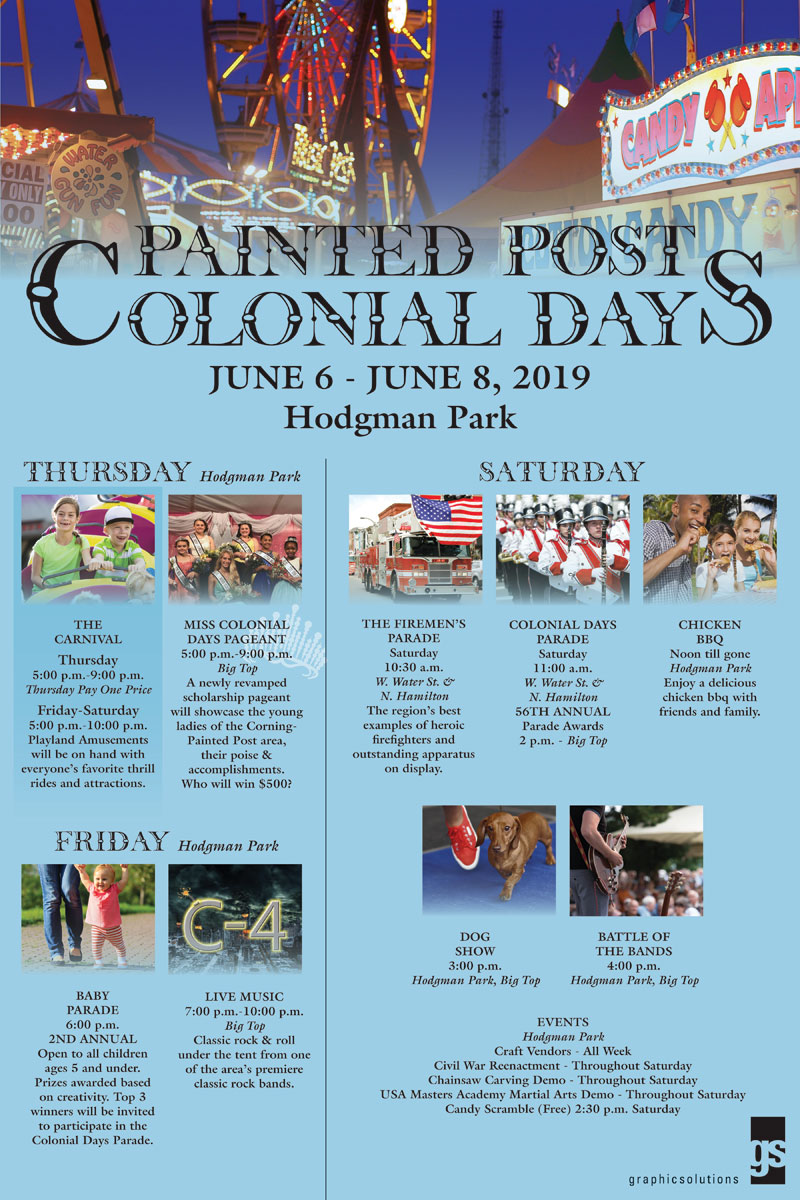 Painted Post, NY    2019 Colonial Days Thursday June 6th